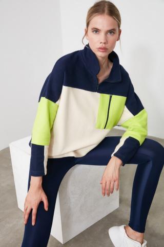 Trendyol Color Block Pocket Detailed Sports Sweatshirt dámské Multi S