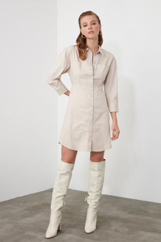 Trendyol Cream Shirt Dress dámské 36