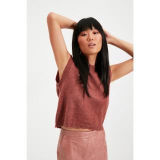 Trendyol Dried Rose Crew Neck Knitwear Sweater dámské Other S