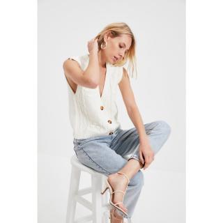 Trendyol Ecru Knitted Detailed Knitwear Sweater dámské Other M