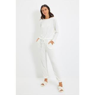 Trendyol Ecru Knitted Pajamas Set dámské Other L