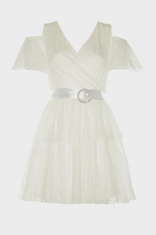 Trendyol Ekru Accessory Detailed Dress dámské Ecru 42