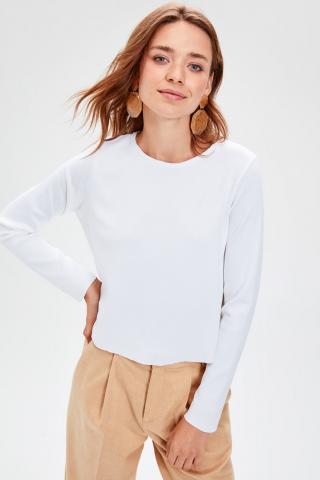 Trendyol Ekru Basic Bicycle Collar Knitwear Sweater dámské Ecru S