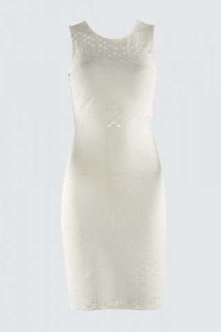 Trendyol Ekru File Lace Dress dámské Ecru 34