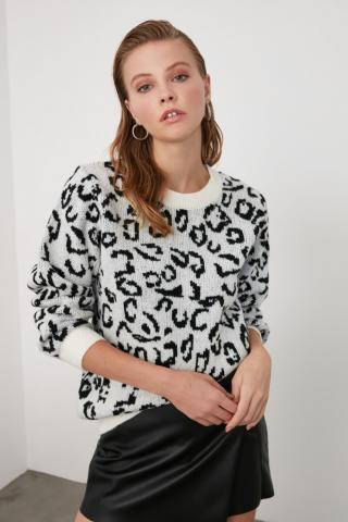 Trendyol Ekru Jacquard Knit Sweater dámské Ecru M