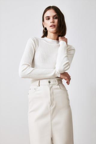 Trendyol Ekru Knitwear Sweater dámské Ecru S