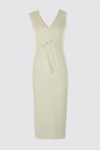Trendyol Ekru Stone Accessory Dress dámské Ecru 42