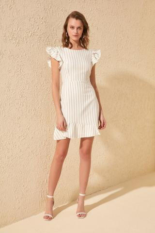 Trendyol Ekru Striped Dress dámské Ecru 38