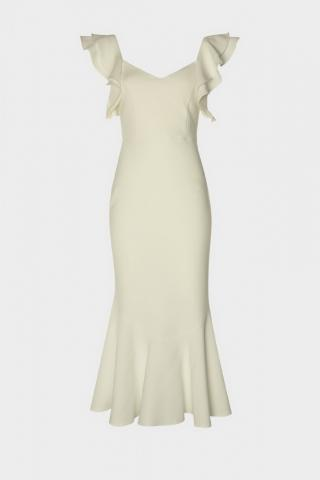 Trendyol Ekru Volan Detailed Dress dámské Ecru 40
