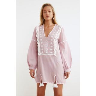 Trendyol Ethnic Vual Beach Dress dámské Rose 34