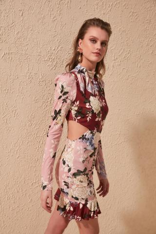 Trendyol Floral Printed Dress dámské Multi 42