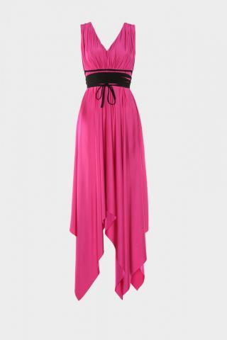 Trendyol Fuchya Belt Detailed Evening Dress & Graduation Dress dámské Fuchsia 34