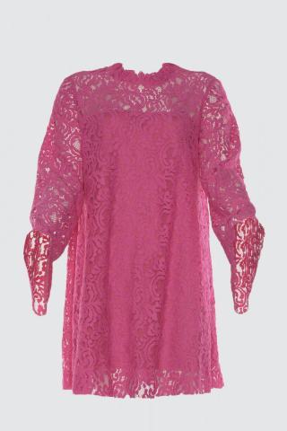 Trendyol Fuchya Lace Dress dámské Fuchsia 34
