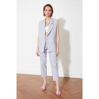 Trendyol Gray Button Vest dámské Grey 38