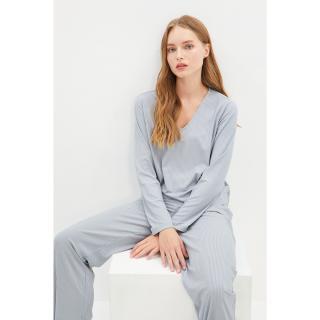Trendyol Gray Camisole Knitted Bottom-Top Set dámské Other XS