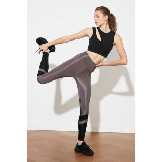 Trendyol Gray Color Block Sports Tights Grey S