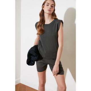 Trendyol Gray Knitwear Bottom-Top Tool dámské Grey S