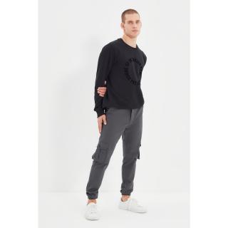 Trendyol Gray Mens Cargo Jogger Pants pánské Other 34