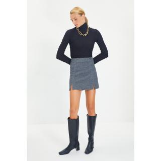 Trendyol Gray Mini Slit Knitted Skirt dámské Other XS