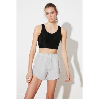 Trendyol Gray Parachute Fabric Sports Shorts dámské Grey XS