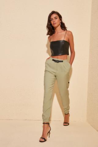 Trendyol Green Belt Detailed Pants dámské 40