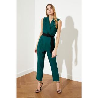 Trendyol Green Belt Jumpsuit dámské 34