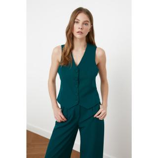 Trendyol Green Button Vest dámské 34