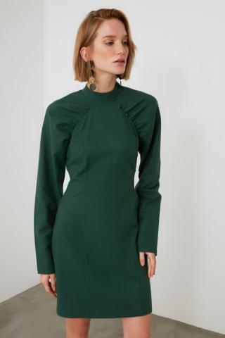 Trendyol Green Collar Detailed Dress dámské 34