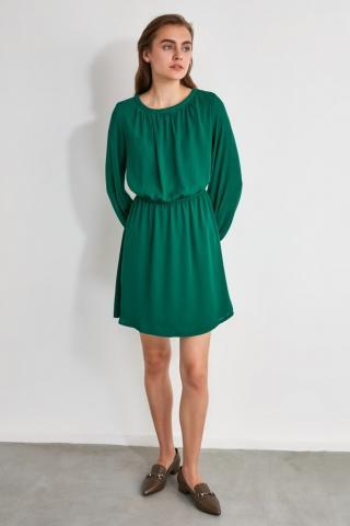 Trendyol Green Gathered Dress dámské 34