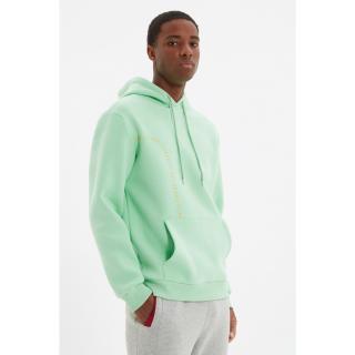 Trendyol Green Mens Regular Fit Hoodie Printed Sweatshirt pánské Other XL
