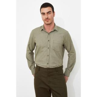 Trendyol Green Mens Shirt Collar Single Pocket Regular Shirt pánské S