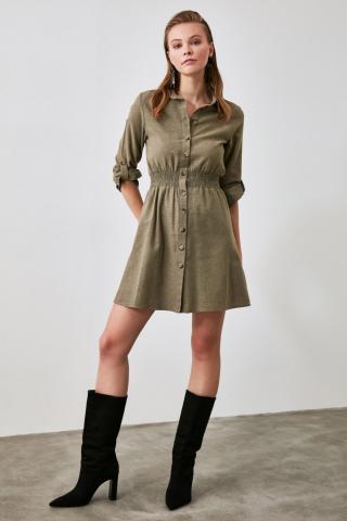 Trendyol Green Shirt Dress dámské 34