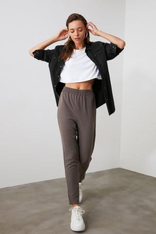 Trendyol Grey Basic Pants dámské 34