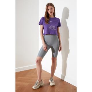 Trendyol Grey Biker Bright Sports Tights dámské XS