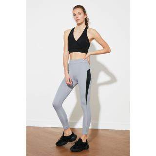 Trendyol Grey High Waist Sports Tights dámské S