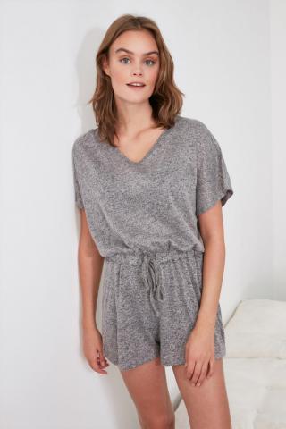 Trendyol Grey Knitted Jumpsuit dámské S