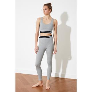 Trendyol Grey Knitted Pyjama Set dámské S