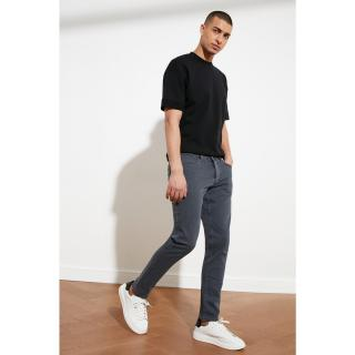 Trendyol Grey Male Slim Fit Jeans 36