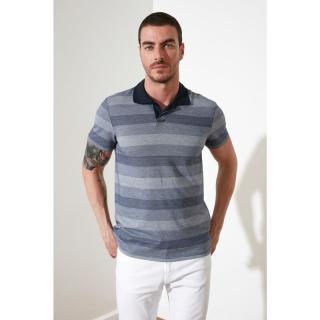 Trendyol Grey Mens Polo Neck T-shirt pánské S