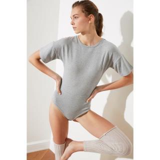 Trendyol Grey Snap Knitted Body dámské XS