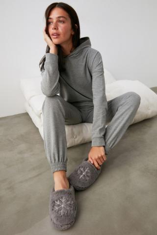 Trendyol Grey Yumoş Home Slipper dámské 40.5