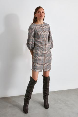 Trendyol Grey Zipper Dress dámské 34