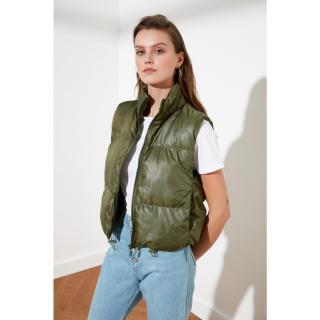 Trendyol Haki Crop Inflatable Vest dámské Khaki XS