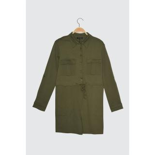 Trendyol Haki Pocket Knitted Coverall dámské Khaki S
