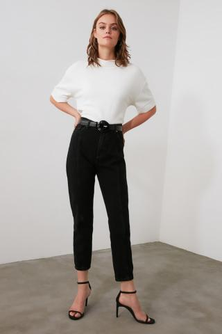 Trendyol High Waist Mom Jeans WITH Black Stitch DetailING dámské 34