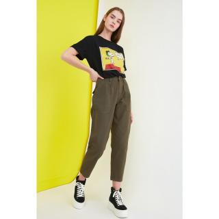 Trendyol High Waist Slouchy Jeans dámské Khaki 34