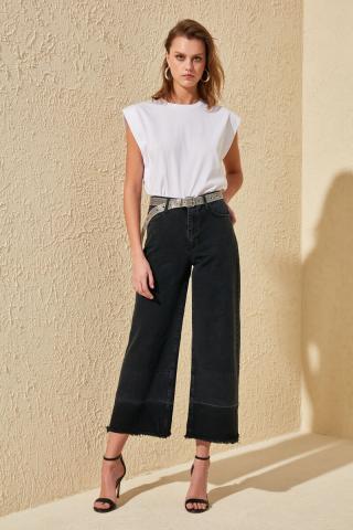 Trendyol High Waist Wide Leg Jeans dámské Black 34