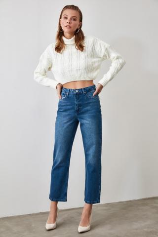 Trendyol Indigo High Waist Dad Jeans dámské 34