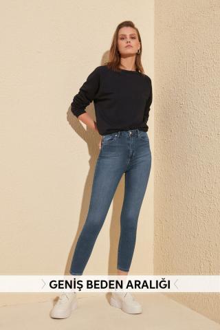 Trendyol Indigo High Waist Skinny Jeans dámské 34