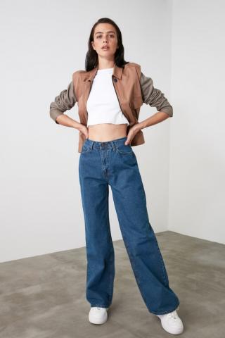Trendyol Indigo High Waist Wide Leg Jeans dámské 42